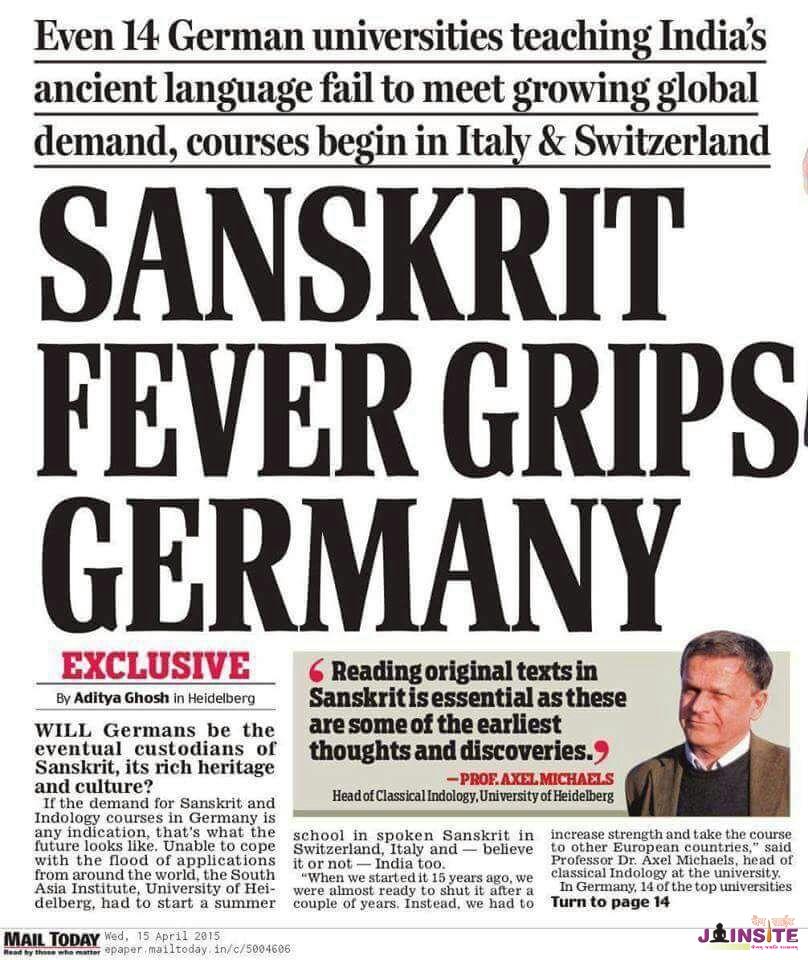 Sanskrit fever grips germany