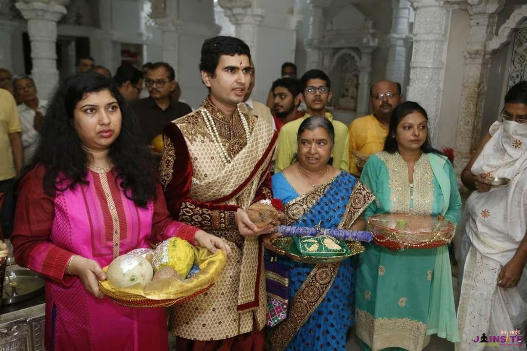 A brahmin guy.Taking diksha